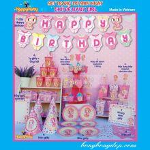 Sét Phụ Kiện Trang Trí Sinh Nhật Độc Đáo Chủ Đề Baby Girl