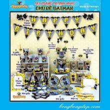 Sét Phụ Kiện Trang Trí Sinh Nhật Độc Đáo Chủ Đề Bat Man