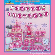 Sét Phụ Kiện Trang Trí Sinh Nhật Độc Đáo Chủ Đề Hello Kitty