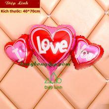 Bong bóng trái tim trang trí ngày tình nhân Valentine