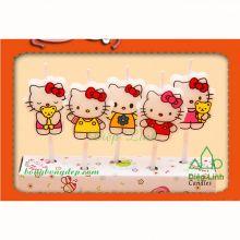 Bộ Nến Đèn Cầy Trang Trí Tiệc Sinh Nhật Ngày Lễ Hello Kitty