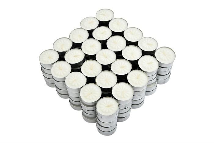 Vỉ 100 nến tách không khói tealight bông mai