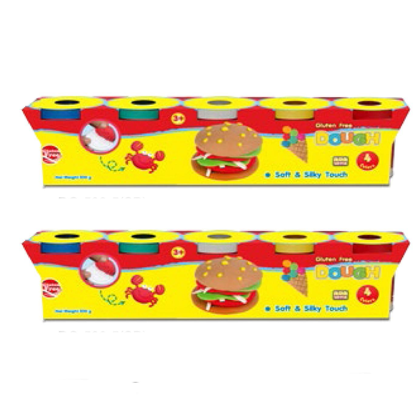 2 Bộ Đất nặn Kiddy Clay Thái Lan hình bánh kem DOUGH 5 màu