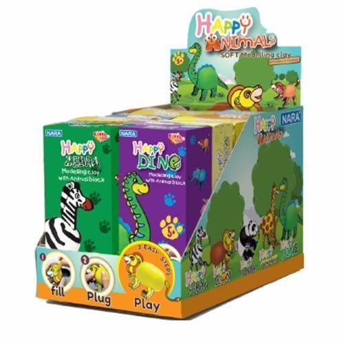 3 Hộp Đất nặn Kiddy Clay Thái Lan Happy Animals