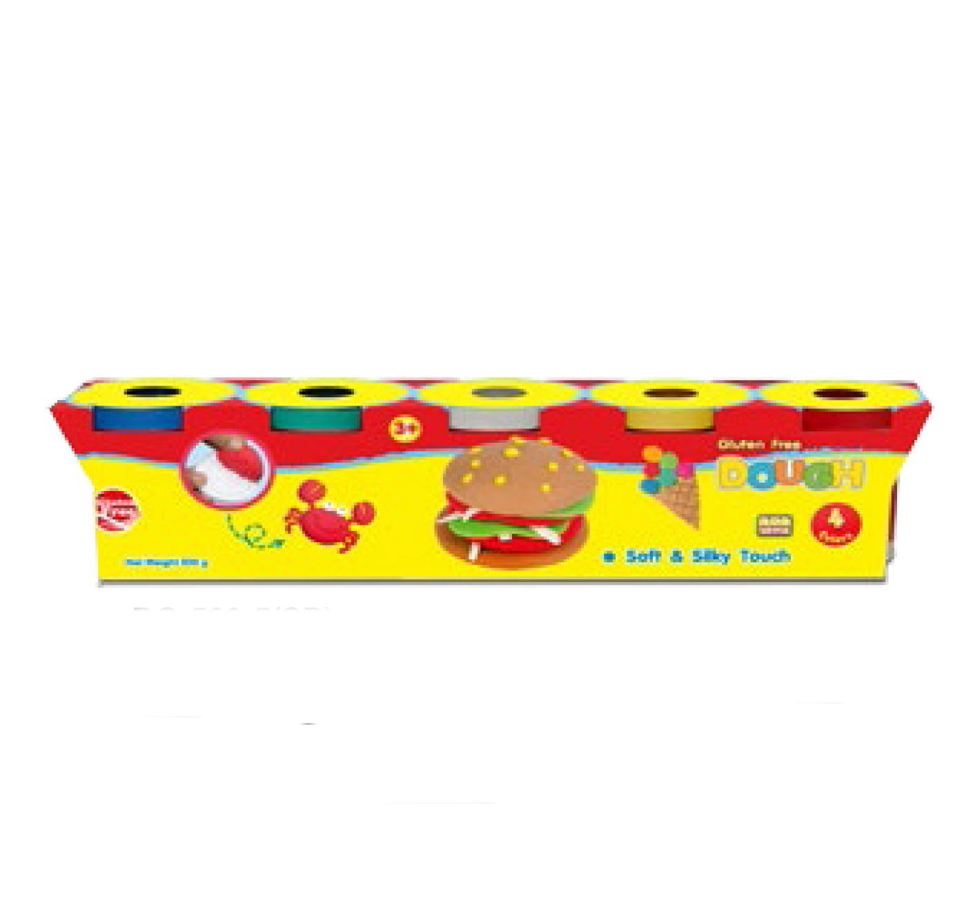 Đất nặn Kiddy Clay Thái Lan hình bánh kem DOUGH 5 màu