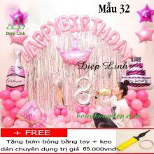 Sét bong bóng sinh nhật trang trí mẫu 32