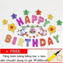 Sét Bóng Sinh Nhật Thôi Nôi Đầy Tháng Nhiều Họa Tiết Hình HBBD16