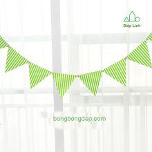 Dây treo trang trí sinh nhật nhà cửa sọc xanh lá