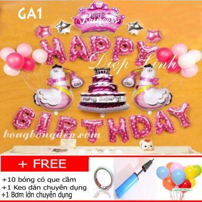 Sét bong bóng trang trí sinh nhật mẫu gà GA1