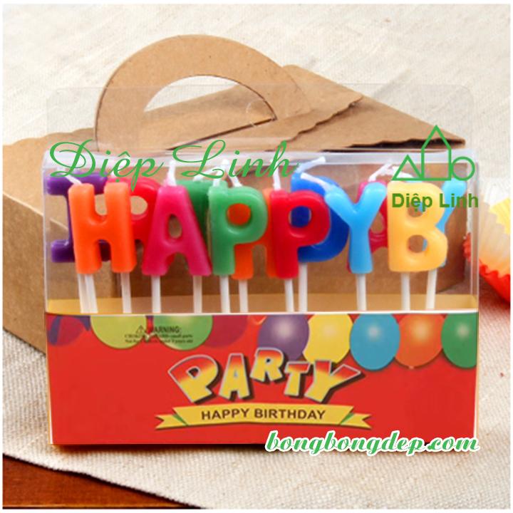 Bộ Nến Đèn Cầy Trang Trí Tiệc Sinh Nhật Ngày Lễ Happy Birthday