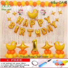 Set bong bóng trang trí sinh nhật mẫu gà 16