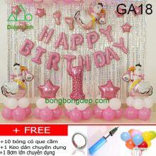 Set bong bóng trang trí sinh nhật mẫu gà 18
