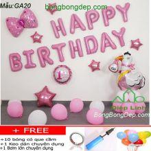 Set bong bóng trang trí sinh nhật mẫu gà 20