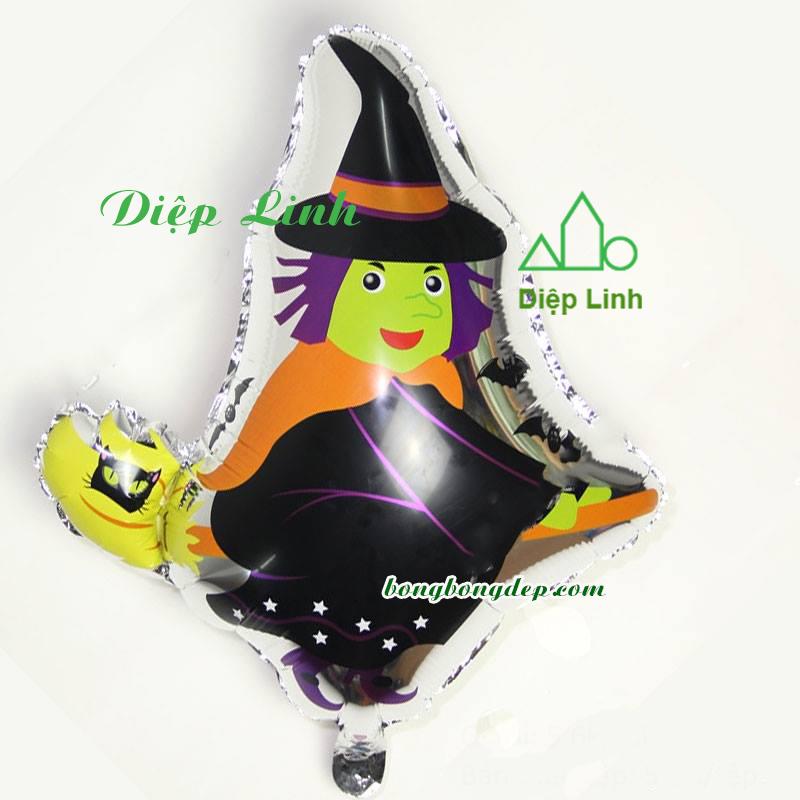Bong bóng trang trí lễ hội Halloween-Phù thủy