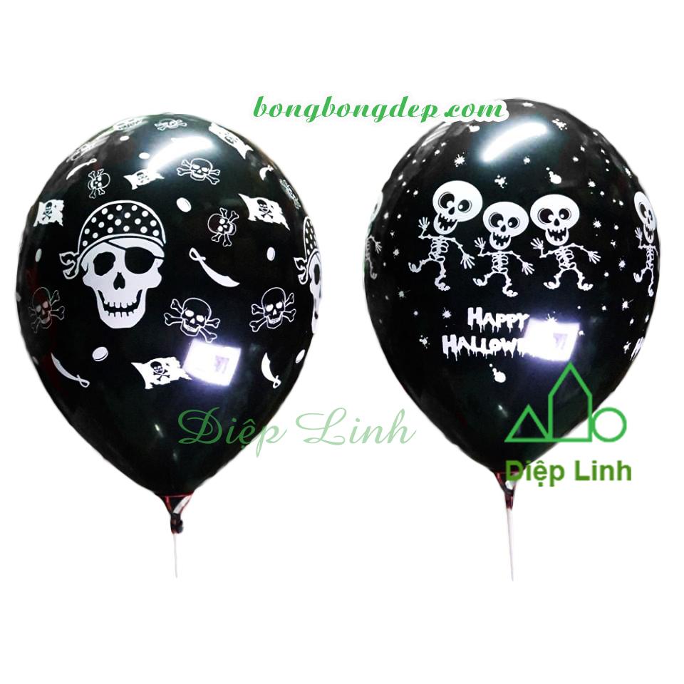 Bong bóng tròn trang trí lễ hội Halloween 12cm - halloween đen