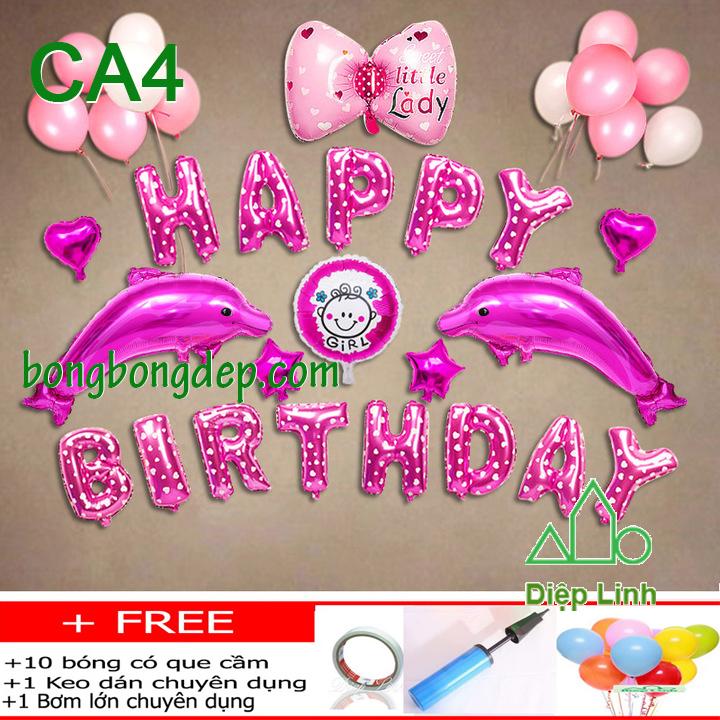 Set bong bóng trang trí sinh nhật mẫu cá 4