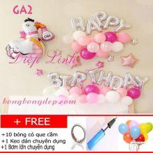 Sét bong bóng trang trí sinh nhật mẫu gà GA2