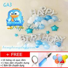 Sét bong bóng trang trí sinh nhật mẫu gà GA3