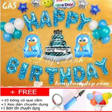 Sét bong bóng trang trí sinh nhật mẫu gà GA5