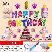 Sét bong bóng trang trí sinh nhật mẫu gà GA7