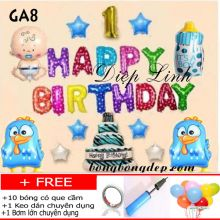 Sét bong bóng trang trí sinh nhật mẫu gà GA8