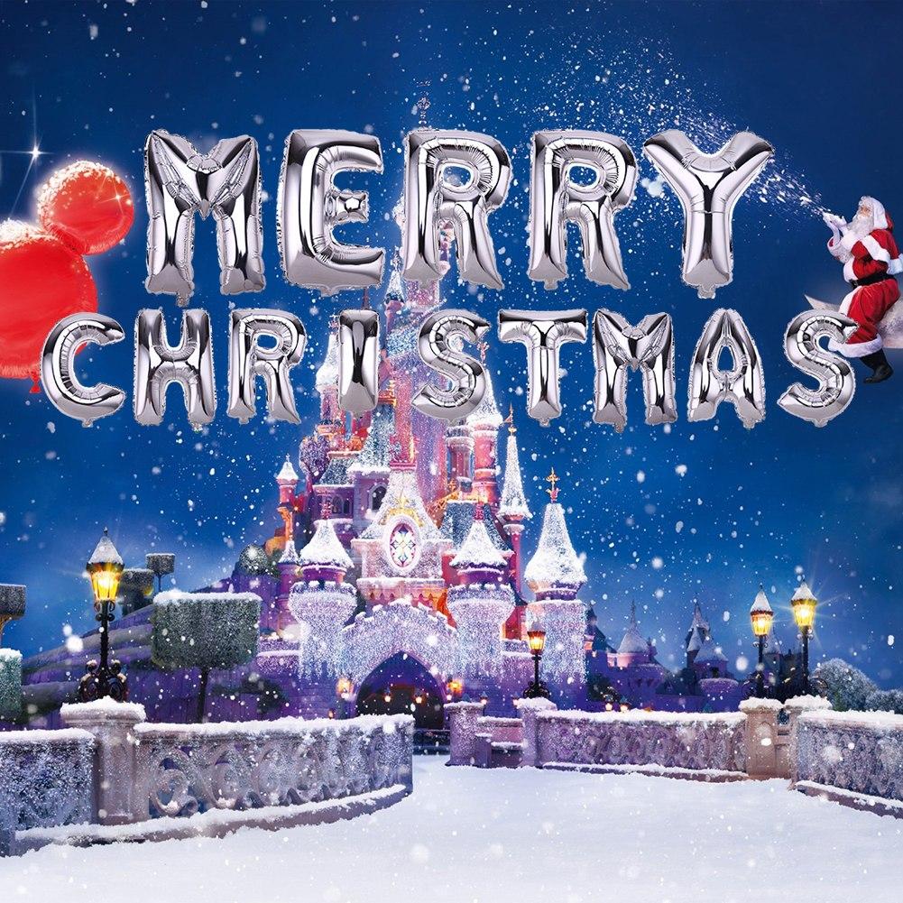 Bóng kiếng nhôm in Merry Christmas bạc