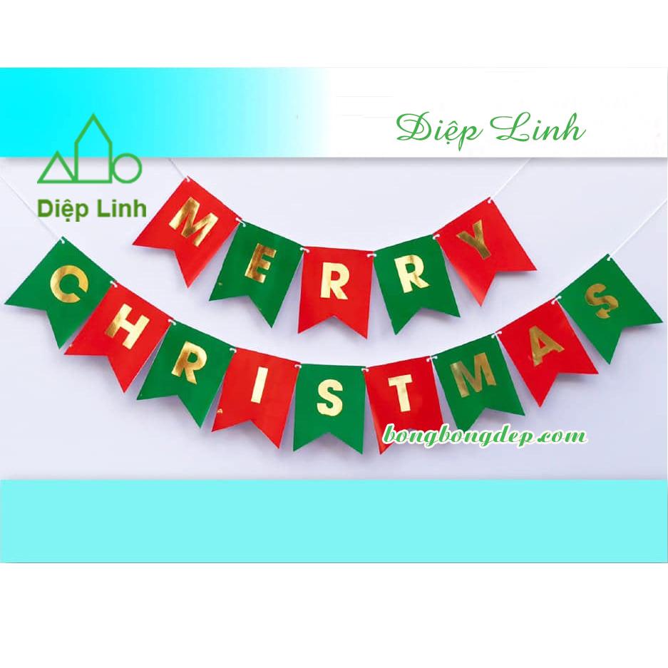 Dây treo trang trí Merry Christmas nhiều màu