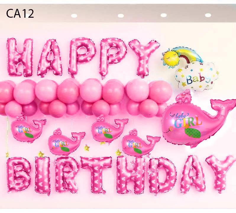 Set bong bóng trang trí sinh nhật mẫu cá 12