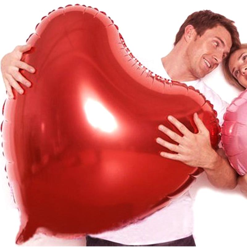 Bong bóng kiếng trái tim size lớn 80cm