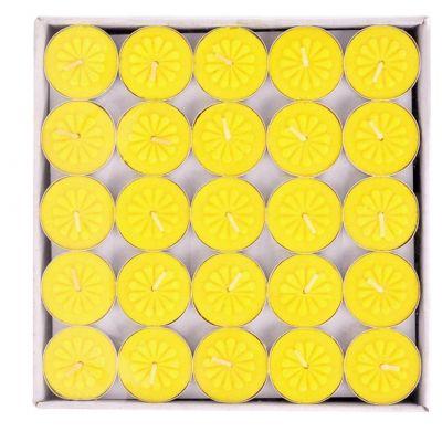 Vỉ 100 nến tách không khói tealight bông mai vàng