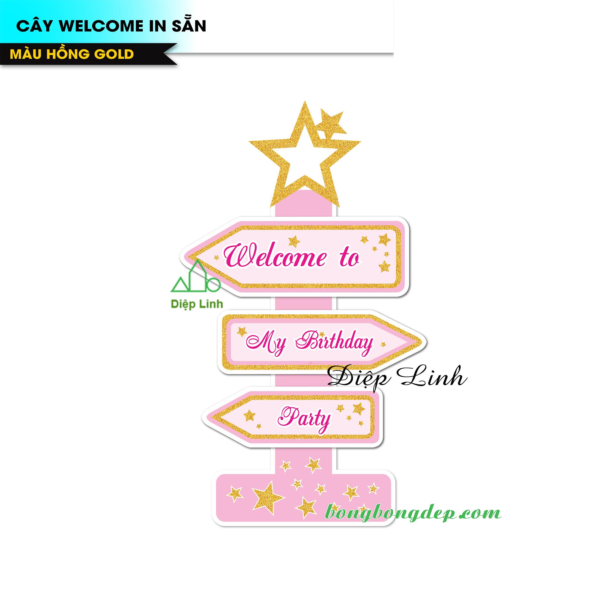 Cây Welcome chủ đề Hồng