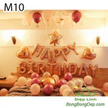 Sét bóng trang trí sinh nhật mẫu hot M10
