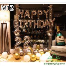 Sét bóng trang trí sinh nhật mẫu hot M12