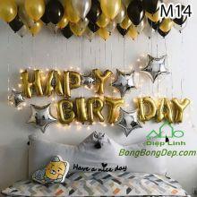 Sét bóng trang trí sinh nhật mẫu hot M14