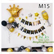 Sét bóng trang trí sinh nhật mẫu hot M15