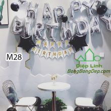 Sét bóng trang trí sinh nhật mẫu hot M28