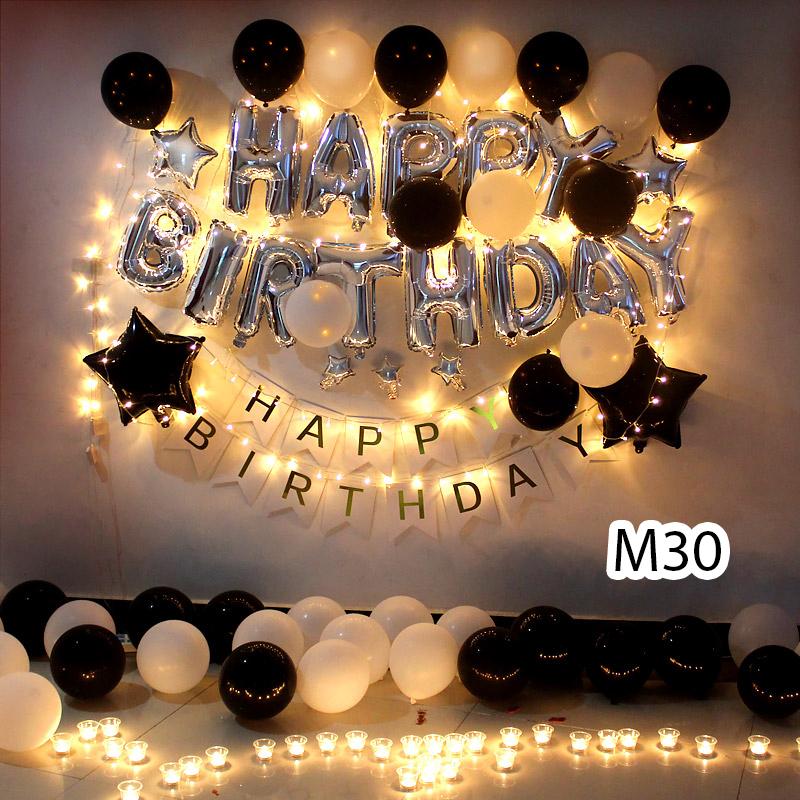 Sét bóng trang trí sinh nhật mẫu hot M30