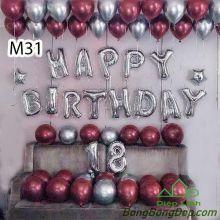 Sét bóng trang trí sinh nhật mẫu hot M31