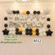 Sét bóng trang trí sinh nhật mẫu hot M32