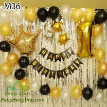 Sét bóng trang trí sinh nhật mẫu hot M36
