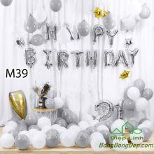 Sét bóng trang trí sinh nhật mẫu hot M39