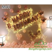 Sét bóng trang trí sinh nhật mẫu hot M41