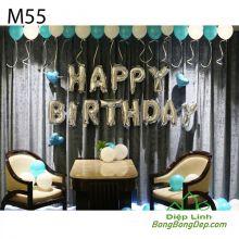 Sét bóng trang trí sinh nhật mẫu hot M55