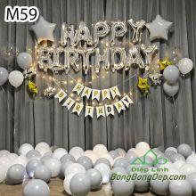 Sét bóng trang trí sinh nhật mẫu hot M59