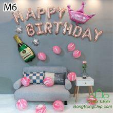 Sét bóng trang trí sinh nhật mẫu hot M6
