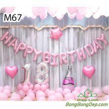 Sét bóng trang trí sinh nhật mẫu hot M67