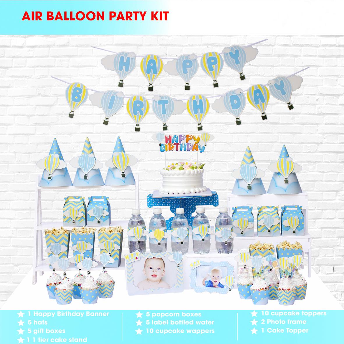 Sét Phụ Kiện Mega Trang Trí Sinh Nhật Độc Đáo Balloon