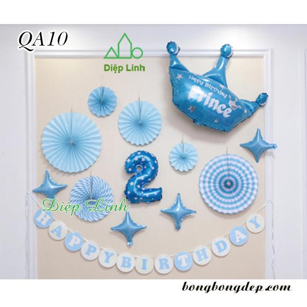 Sét trang trí quạt giấy QA10