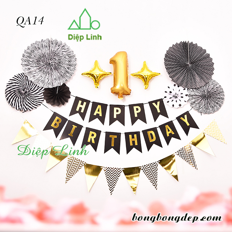 Sét trang trí quạt giấy QA14