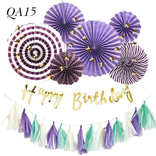 Sét trang trí quạt giấy QA15